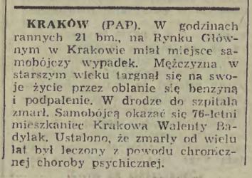 Walenty Badylak dziennik polski