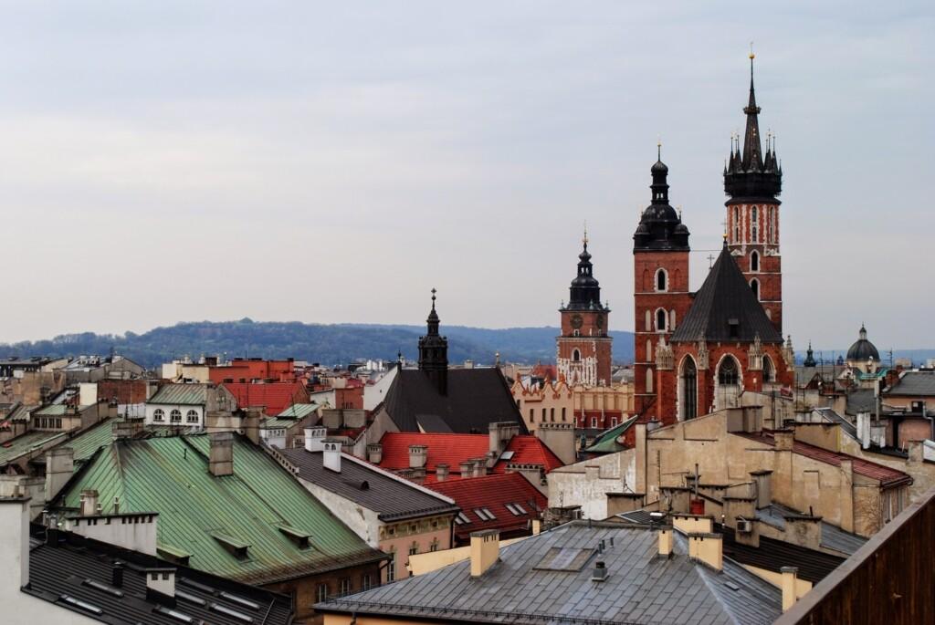 Widok na Kraków z balkonu
