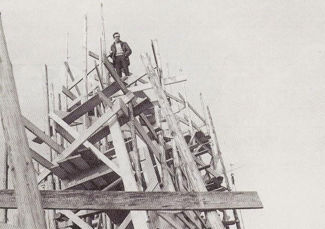Wojciech Pietrzyk podczas budowy Arki Pana