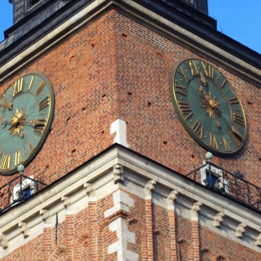 Zegar na Ratuszu w Krakowie
