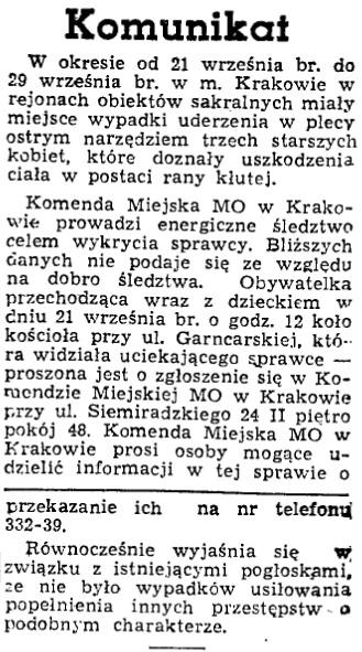 Informacja w gazecie
