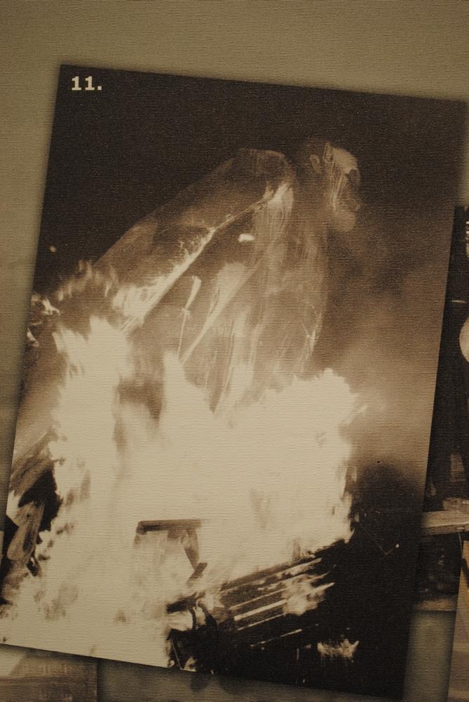Podpalenie pomnika Lenina